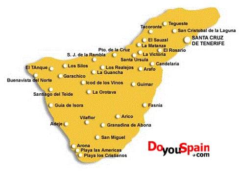 Tenerife Cartina Politica.Informazioni Turistiche Maps Doyouspain