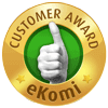 Awarded the eKomi Gold Seal of Approval!